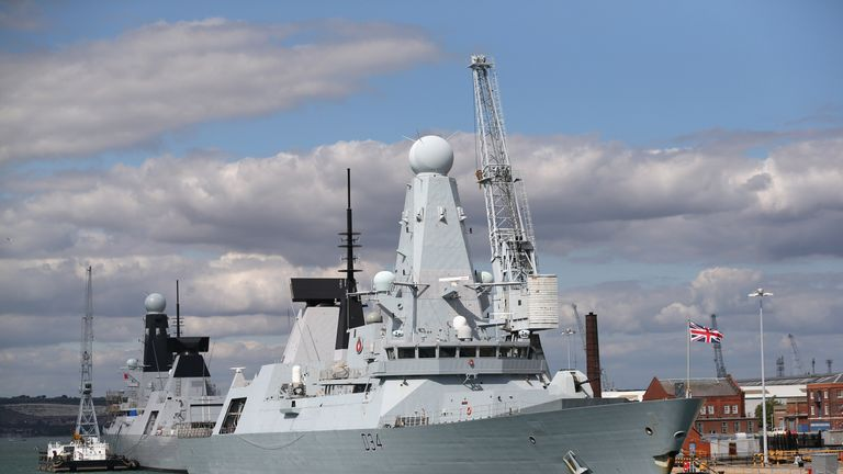 One of the UK's type 45 destroyers HMS Diamond