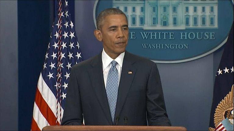 Obama Calls For Unity After Officers Shot