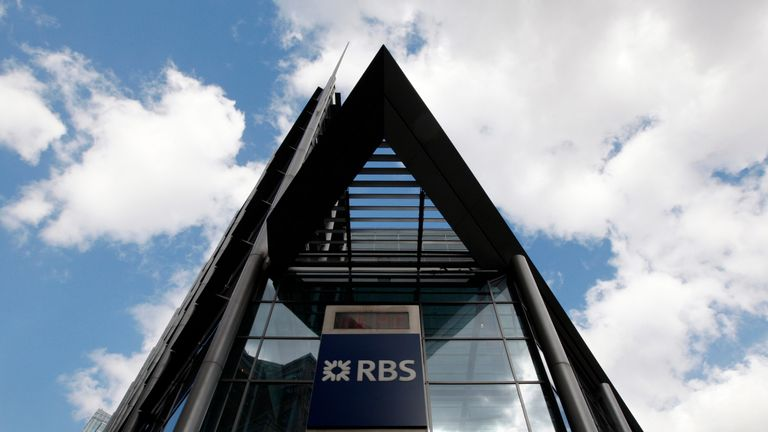 A Royal Bank of Scotland building in London April 7, 2009.