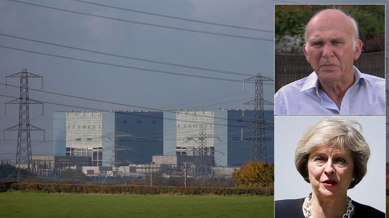 Sir Vince Cable and Theresa May