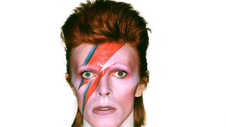 Handout photo of the album cover shoot for Aladdin Sane, 1973