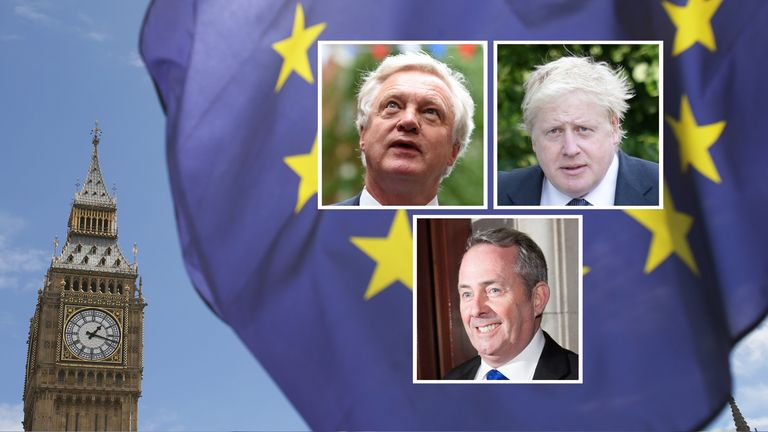 David Davis, Boris Johnson and Liam Fox are the Three Brexiteers