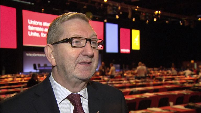 Unite's General Secretary Len McCluskey insists Jeremy Corbyn's name should be on a leadership ballot by default
