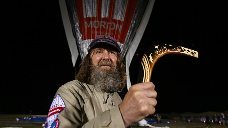 Fedor Konyukhov was given a boomerang as a gift before lifting off