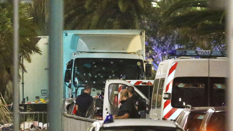 At least 60 people were killed along the Promenade des Anglais in Nice, France, when a truck ran into a crowd celebrating the Bastille Day national holiday July 14. REUTERS/Jean-Pierre Amet