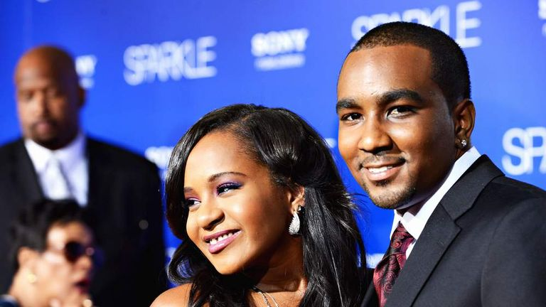 Bobbi Kristina Brown (R) and Nick Gordon in 2012
