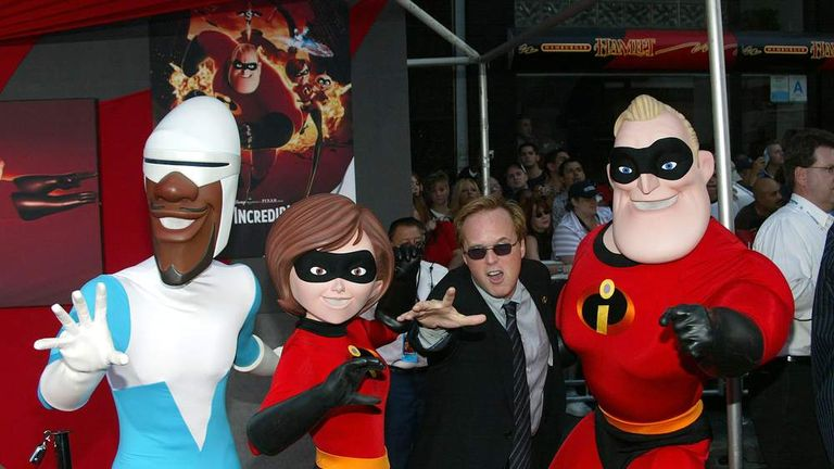 Brad Bird at The Incredibles film premiere