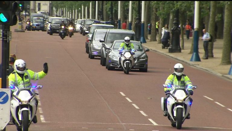 David Cameron leaves Downing Street for last time as prime minister
