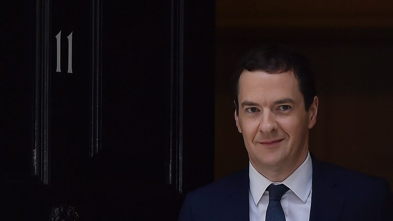 George Osborne leaves Number 11 on the day he resigned as Chancellor