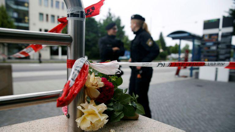Police keep guard in Munich