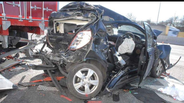 German Trucker Jailed For Fatal M25 Smash | UK News | Sky News
