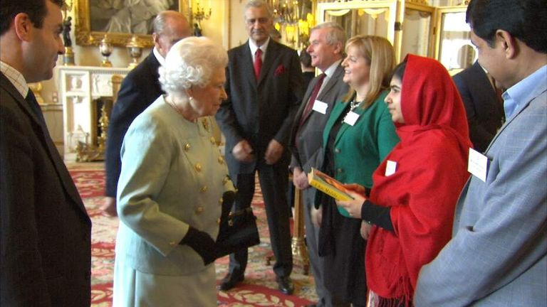 The Queen meets Malala