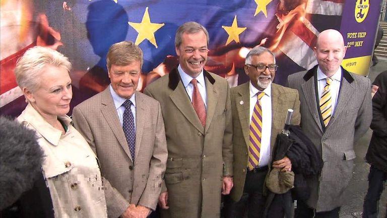 UKIP launch European election campaign.