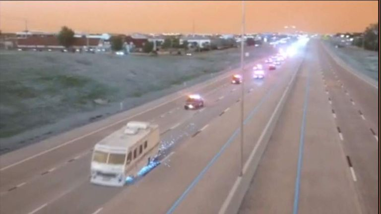 Police Chase: Arrests As RV Crashes