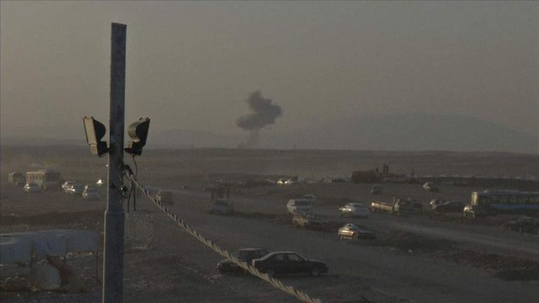 Aftermath of airstrikes in Iraq