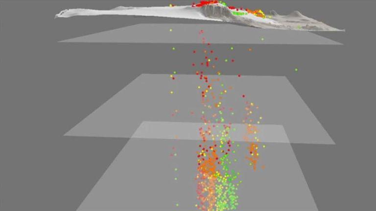 Iceland volcano seismic activity graphic