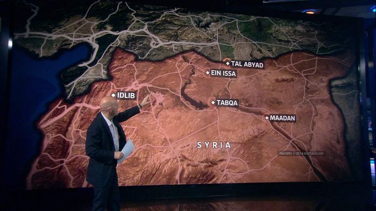 Sky's Sam Kiley explains the locations of airstrikes in Syria