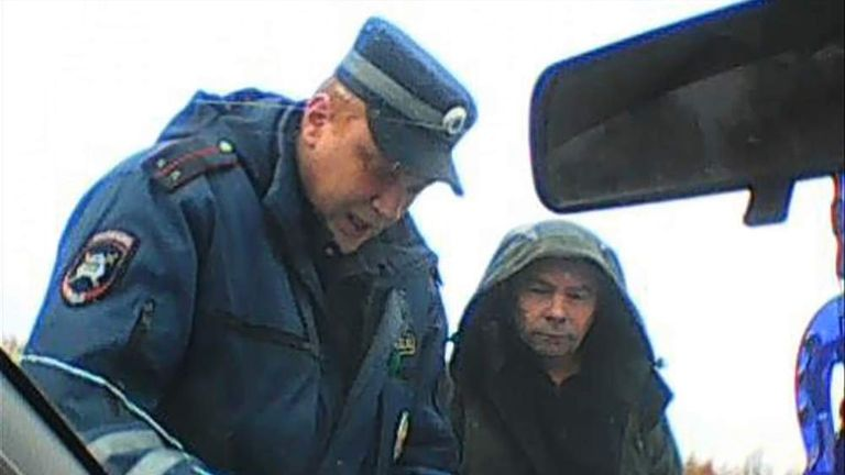 Picture showing police harassment of Saami people