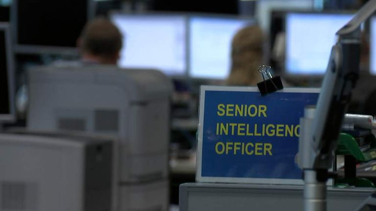 Inside GCHQ's 24-hour operation centre.