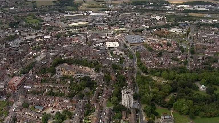 Aerial view of Rotherham