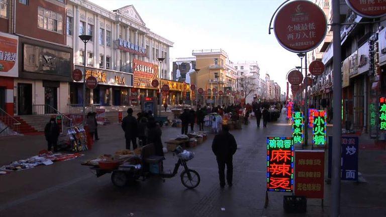 Heihe City street