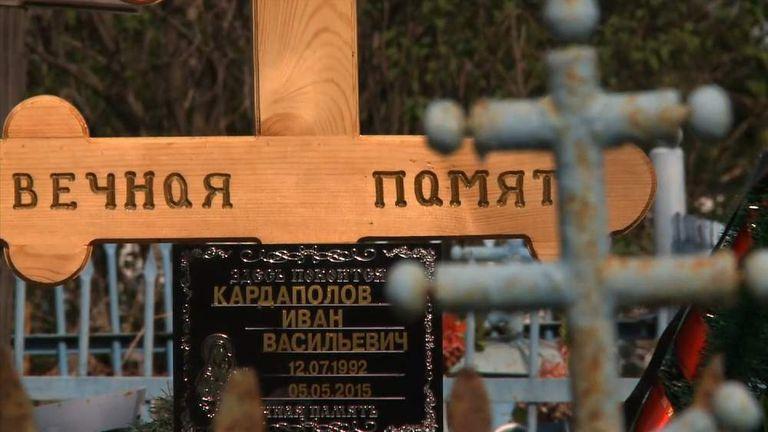 Russian Soldier Grave from Ukraine War