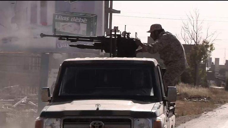 Still image from Alex Crawford VT in Libya
