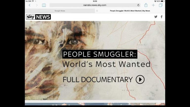 People smuggler documentary graphic