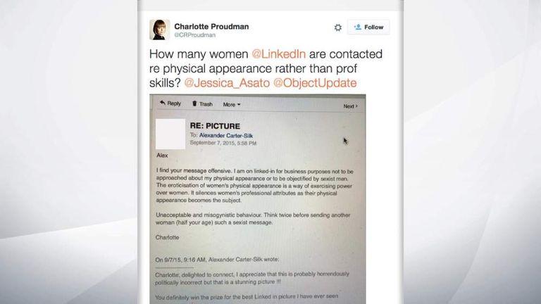 Charlotte Proudman's tweetg