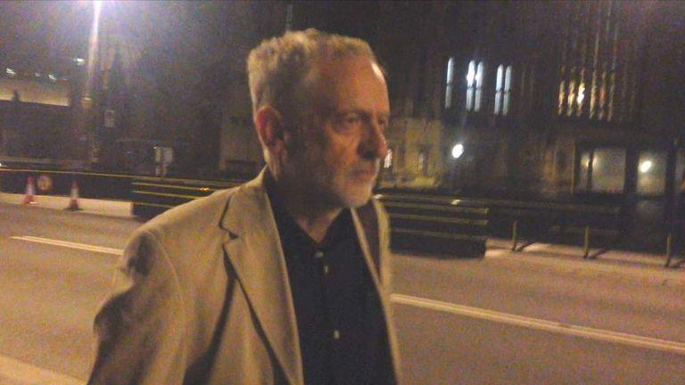 Jeremy Corbyn screengrab silent walk BETTER VERSION