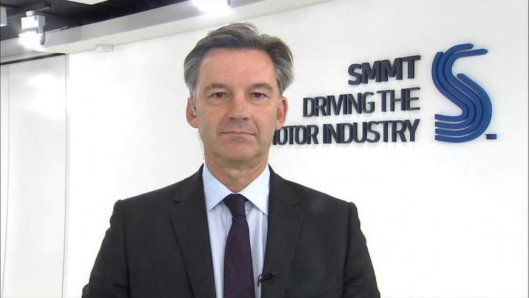 Michael Hawes is the chief executive of the UK's Society of Motor Manufacturers and Traders