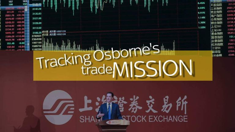Tracking Osborne's Trade Mission
