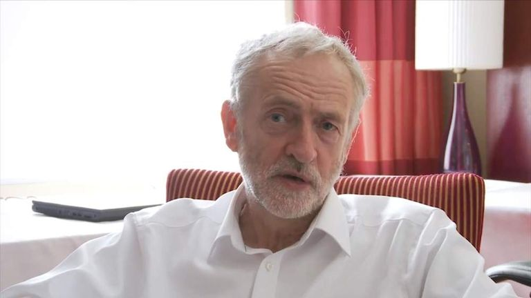 Jeremy Corbyn YouTube screengrab
