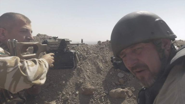 Phil Campion on the frontline with Kurdish fighters battling against Islamic State.