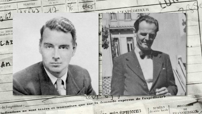 Cambridge spies Guy Burgess (L) and Donald Maclean (R)
