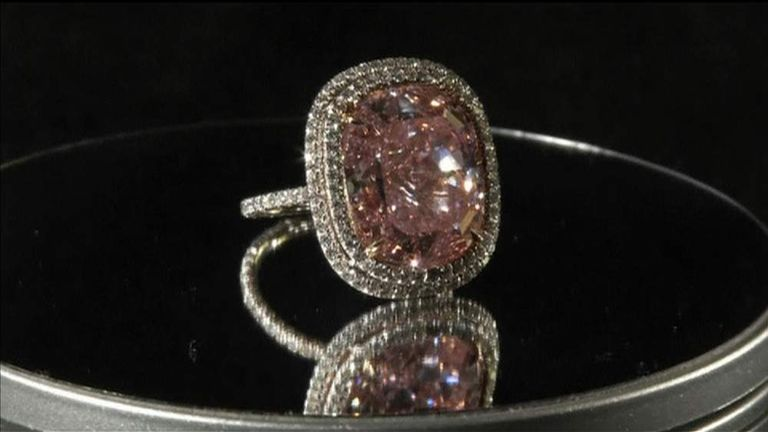 Pink diamond sells for $28.5m