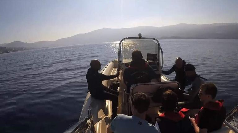 Members of Samos Divers Association which helps rescue migrants in Greek waters