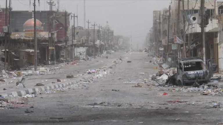 Deserted Streets Of Fallujah In Iraq After IS Driven Out