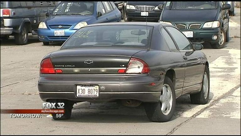 Car with $105,000 parking fine in Chicago