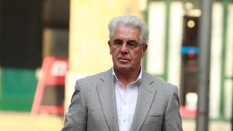 Max Clifford court arrival