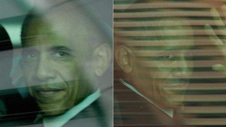 Barack Obama and lookalike decoy