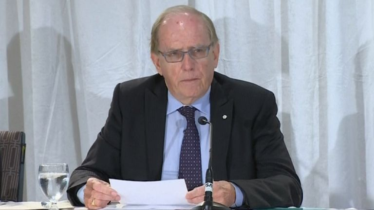 Professor Richard McLaren delivers WADA report on alleged Russian doping