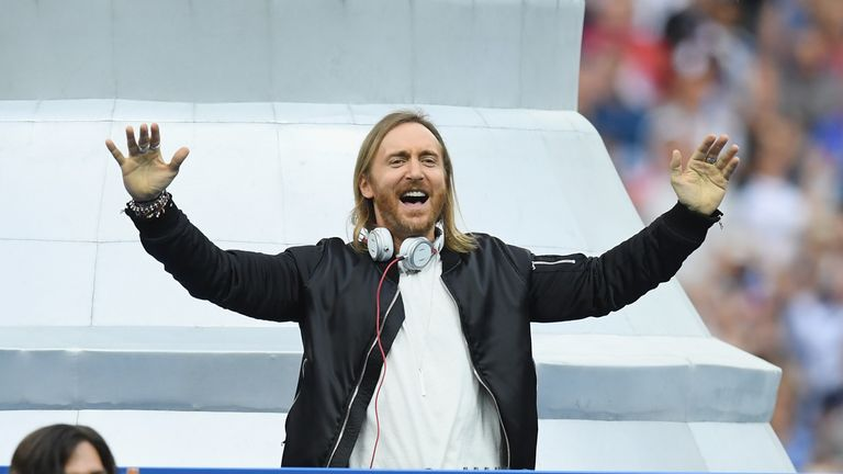 David Guetta performs during closing ceremony prior to the Euro 2016 Final between Portugal and France