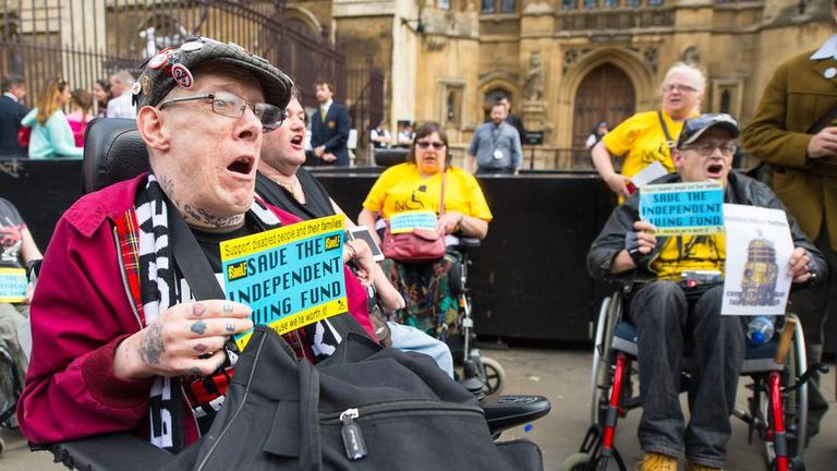 Disability Rights Protest