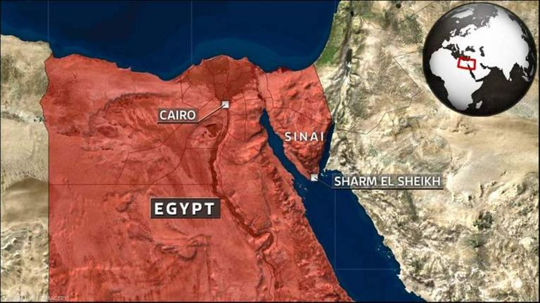 Map of Egypt and Sinai