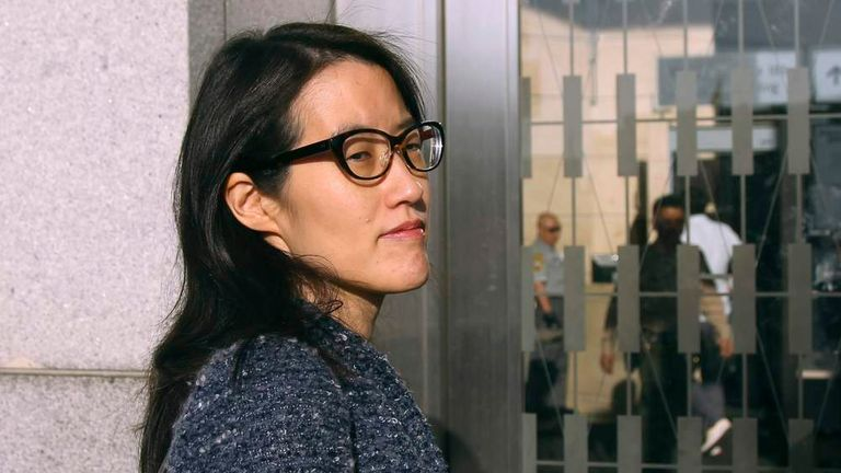 Ellen Pao arrives at San Francisco Superior Court in San Francisco