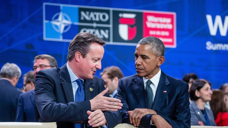 David Cameron and Barack Obama have promised to send troops to Poland and the Baltic states to counter the threat from Russia