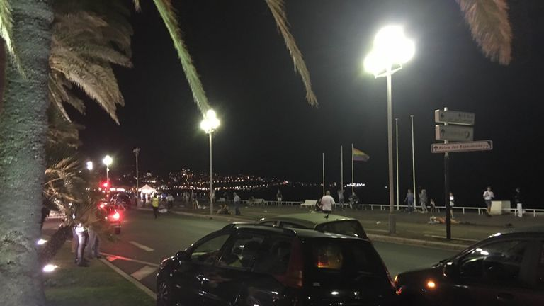 Picture from Nice-Matin's Twitter account showing aftermath
