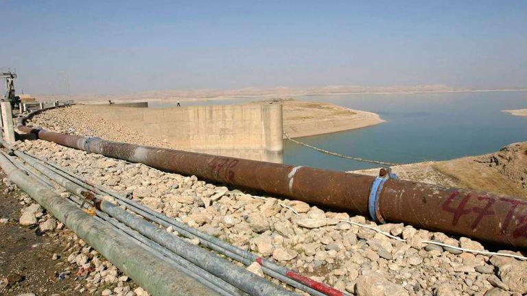 File photo of the Mosul Dam on the Tigris River in Mosul