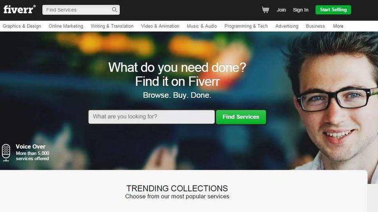Fiverr.com website